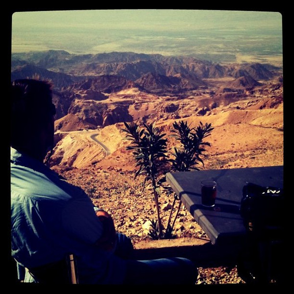 Tea with a view, drive to Dana Reserve, Jordan #JO #dna2jordan