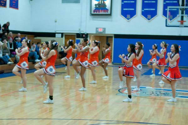 2011-01-25 Cheerleaders - Dayton vs Roselle Park