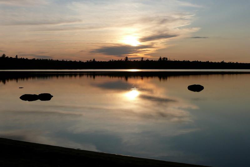 Sunset. Campsite 15-15, lac Poulter, La Vérendrye Wildlife Reserve