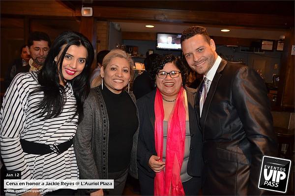 Cena en honor a Jackie Reyes @ L'Auriol Plaza | Mon, Jan 12
