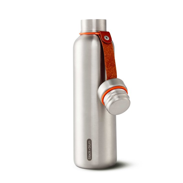 Insulated Water Bottle Large orange Black Blum
