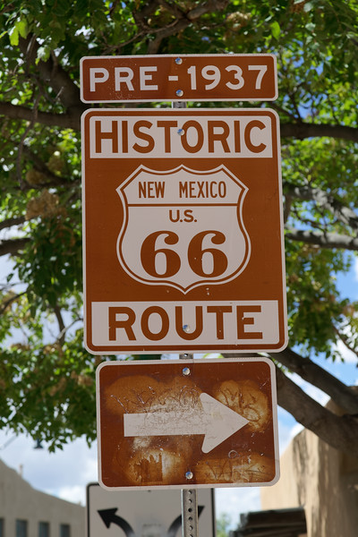 Route 66 sign, Santa Fe, NM