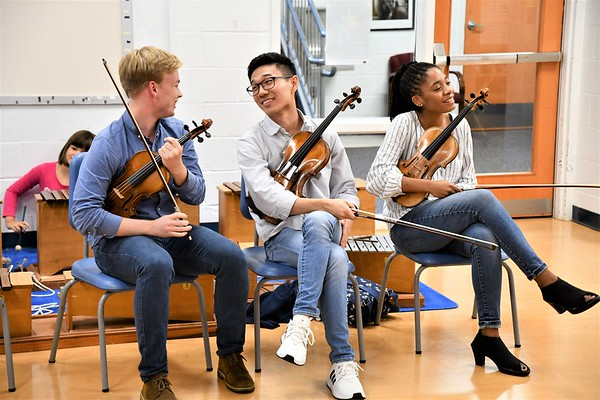 The Abeo Quartet Visits with Norwood Strings
