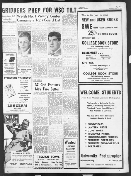 Daily Trojan, Vol. 43, No. 1, September 17, 1951