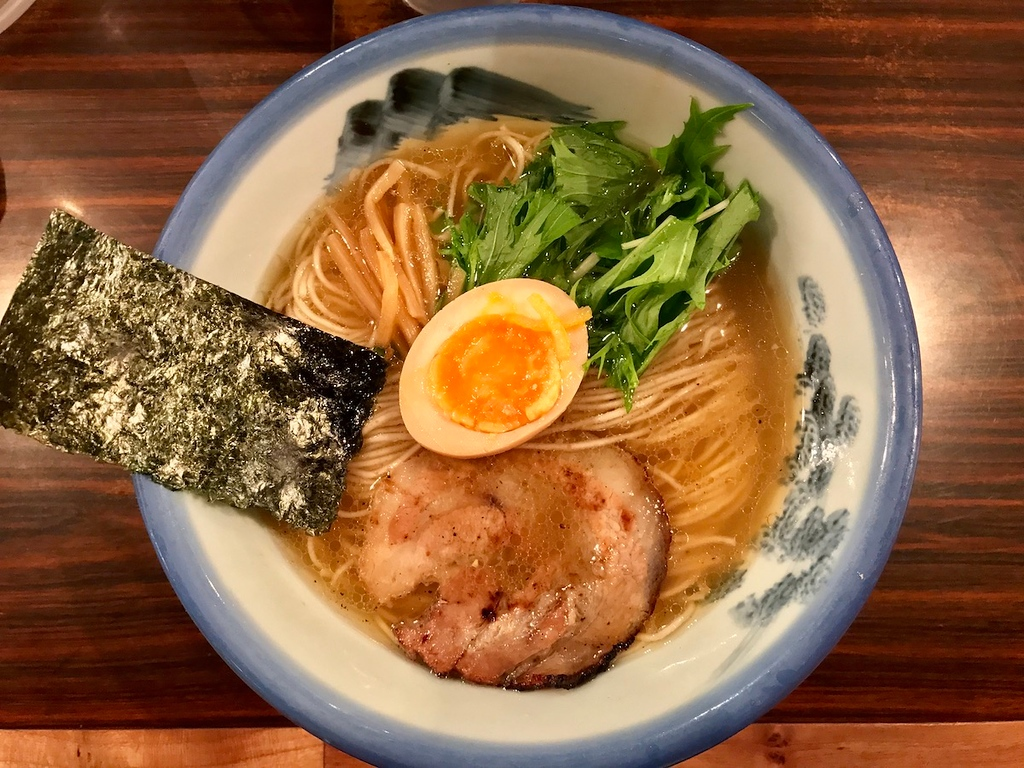 Afuri's best-selling yuzu salt chicken ramen with charcoal-grilled chashu.