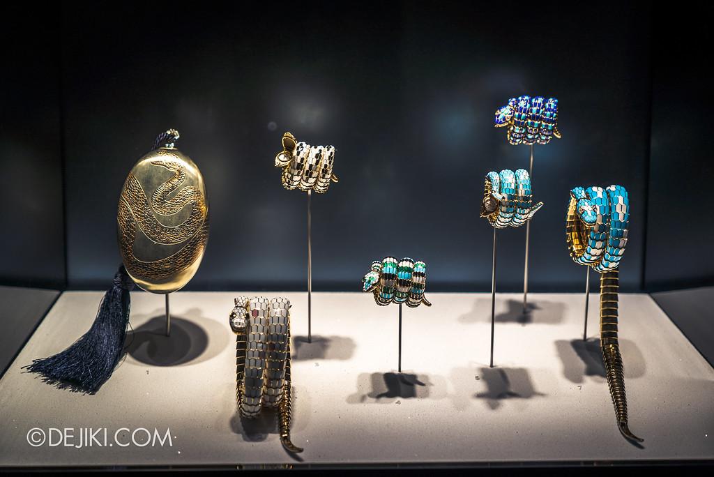 Bulgari SERPENTIform exhibition at ArtScience Museum - Bulgari High Jewellery showcase, precious stones