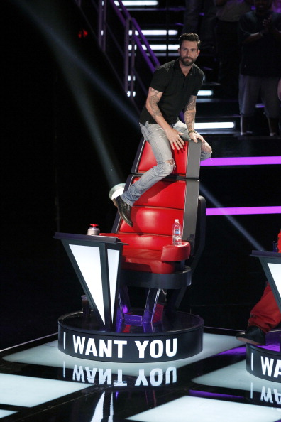 ". THE VOICE -- ""Blind Auditions\"" -- Pictured: Adam Levine -- (Photo by: Trae Patton/NBC/NBCU Photo Bank via Getty Images)"