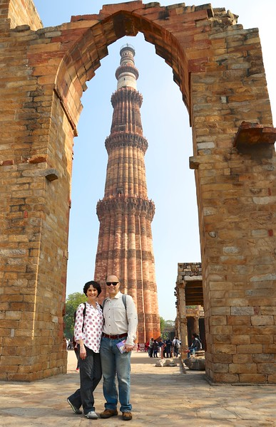 After arriving in Delhi, India's capital at 2:00am, we slept in and started our first day visiting the Qutab Minar complex.