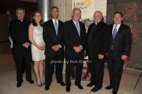 Monsignor Peter Garry, Kerry McCooey, Michael Raferty, Keith Fell, Father Pat West,  Len Scioscia   photo  by Rob Rich © 2014 robwayne1@aol.com 516-676-3939