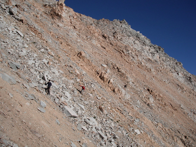 then there was the decission to traverse Montgommery Peak, through this scree mess.