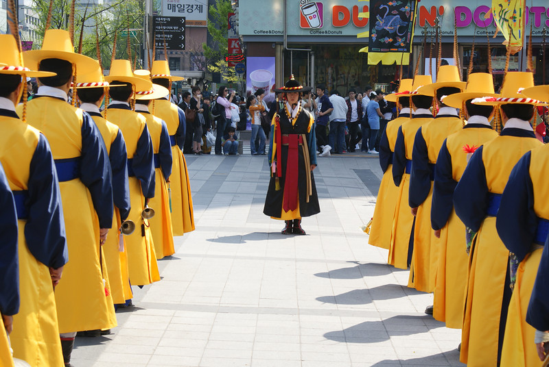 Changing of the guard at Deoksugung. Nice little ceremony.