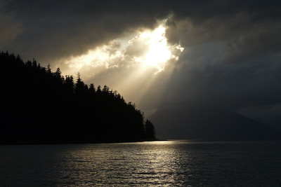 DAY 249 - September 6, 2011 - Glorious Rays of Sunlight Cynthia Meyer, Tenakee Inlet, Alaska