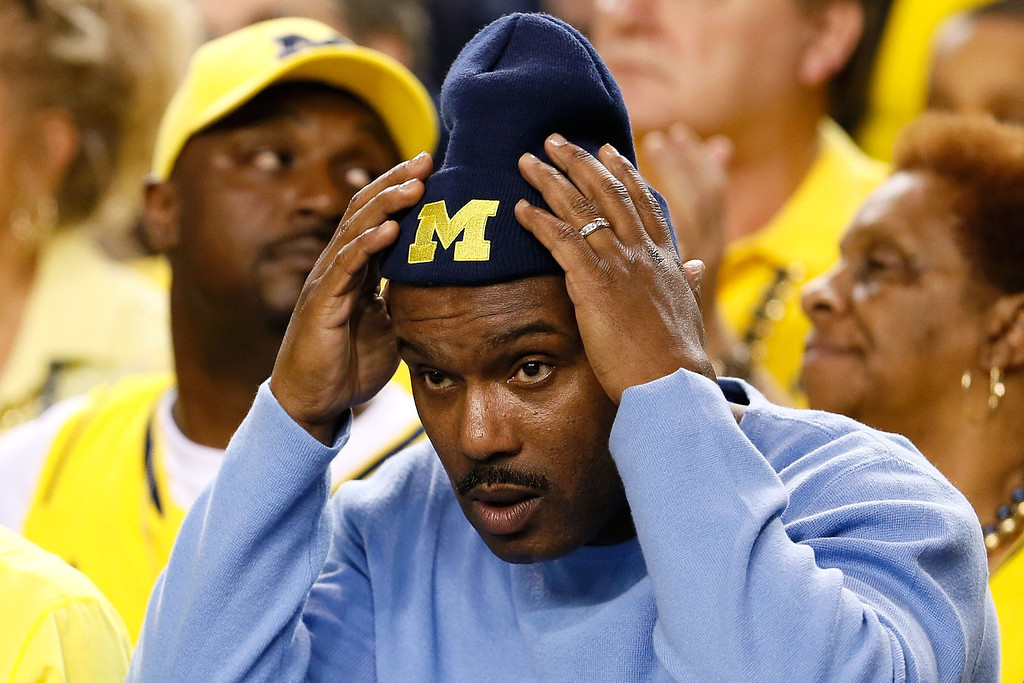 . ATLANTA, GA - APRIL 06:  Tim Hardaway Sr., father of Tim Hardaway Jr. #10 of the Michigan Wolverines, attends Michigan\'s game against the Syracuse Orange during the 2013 NCAA Men\'s Final Four Semifinal at the Georgia Dome on April 6, 2013 in Atlanta, Georgia.  (Photo by Kevin C. Cox/Getty Images)