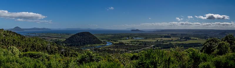Blick Richtung Lake Taupo
