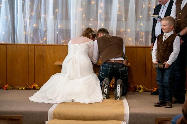Luke and Autumn's wedding day 2020