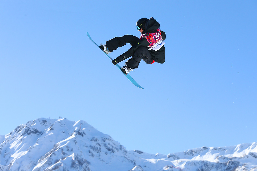 . Jan Scherrer of Switzerland competes in the Men\'s Slopestyle Qualification during the Sochi 2014 Winter Olympics at Rosa Khutor Extreme Park on February 6, 2014 in Sochi, Russia.  (Photo by Cameron Spencer/Getty Images)