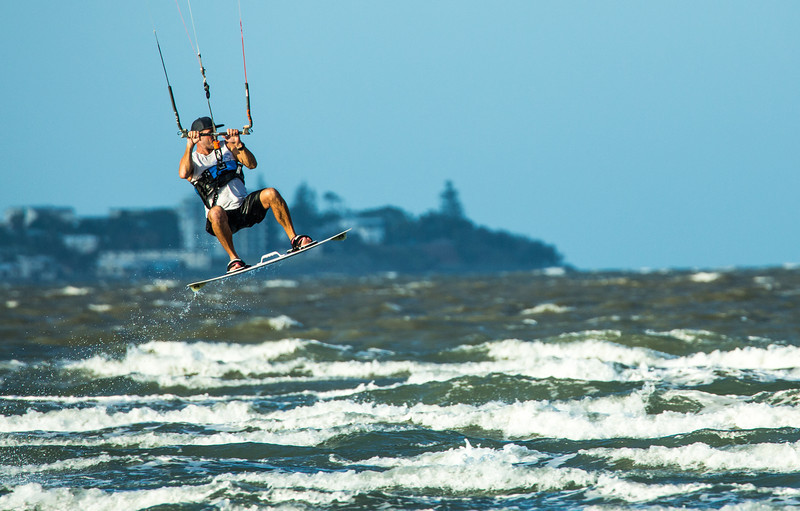 Kite Surfing at Sandgate