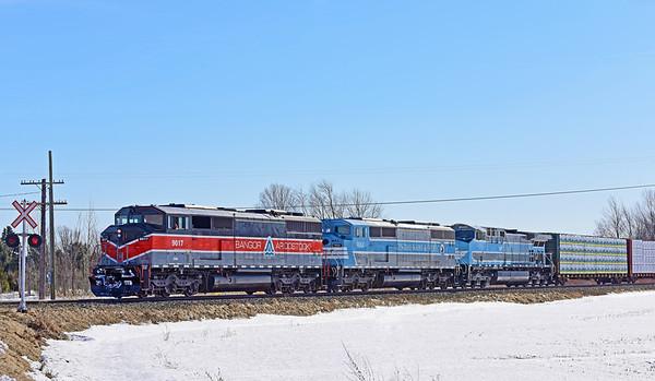 CMQ 9017 North (Job 1), Farnham, Quebec, March 27 2019.