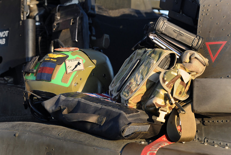 . This picture taken on November 1, 2012 shows Britain\'s Prince Harry\'s crash helmet and personnel kit at the side of the cockpit of his Apache helicopter close to the flight-line at Camp Bastion in Afghanistan\'s Helmand Province, where he was serving as an Apache Helicopter Pilot/Gunner with 662 Sqd Army Air Corps. Britain\'s Prince Harry confirmed he killed Taliban fighters during his stint as a helicopter gunner in Afghanistan, it can be reported after he completed his tour of duty on January 21, 2013.  JOHN STILLWELL/AFP/Getty Images