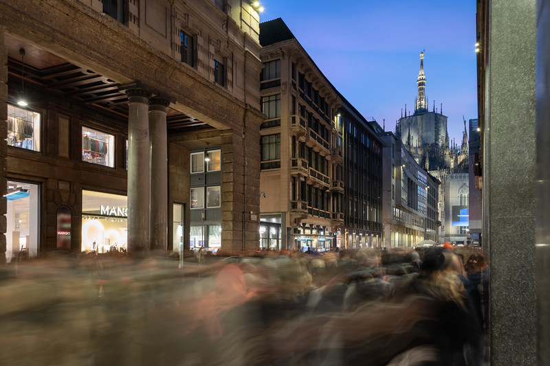 Corso Vittorio Emanuele II - Milan, Italy - December 22, 2018