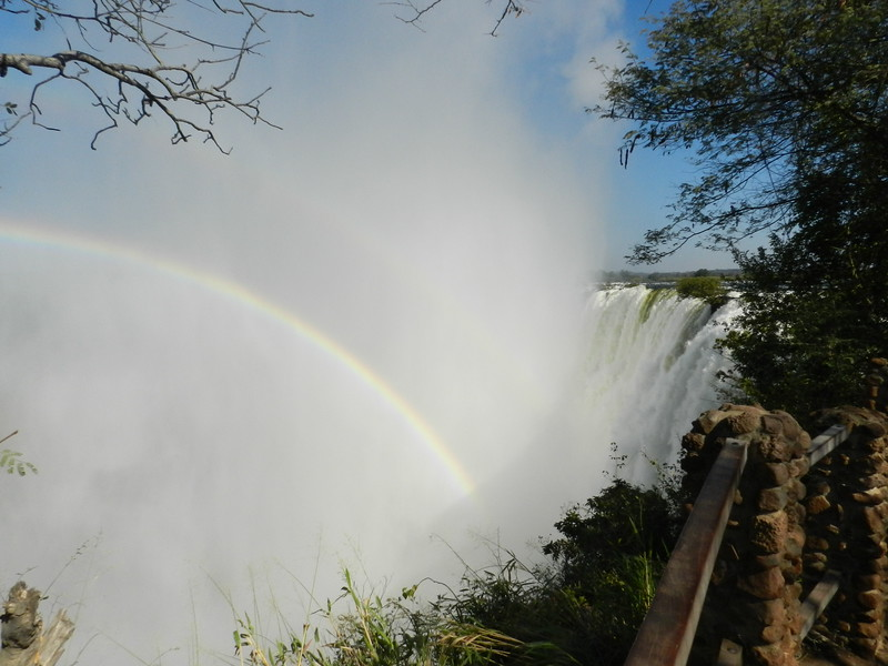 122 - Rainbow over the falls - Anne Davis