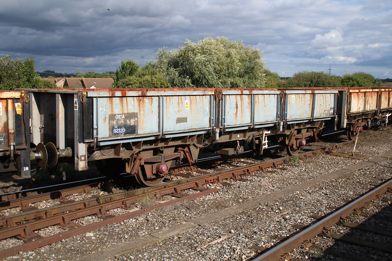 OCA 112120 on 6x38 Marchwood-Didcot at Didcot 18.09.13.