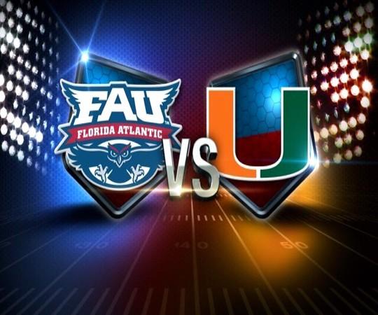FAU Football vs Miami Hurricanes, Sept 11, 2015, FAU Stadium, 8PM
