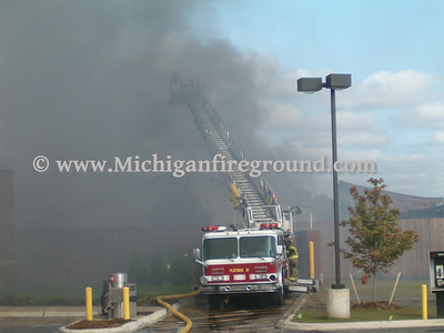 7/9/04 - Howell industrial building fire, Grand River & M-59