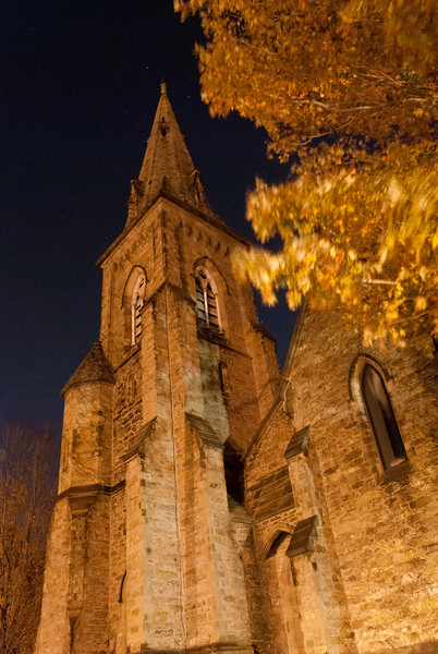 St. Paul's church in Brookline is a  nice old stone church built at the end of the 19th century.