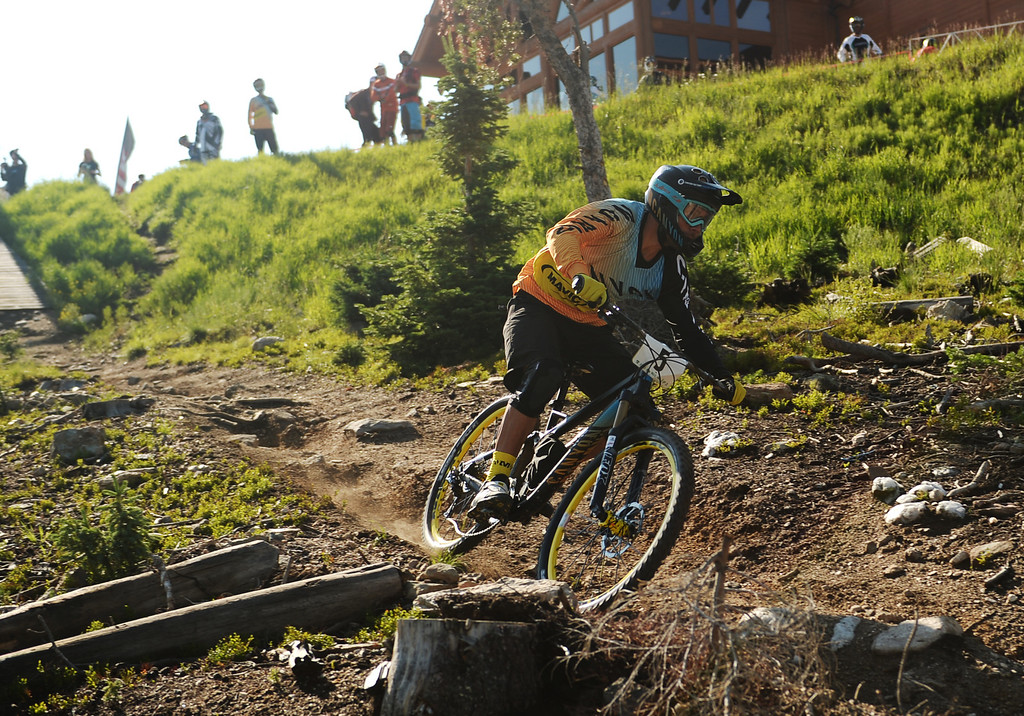 . WINTER PARK, CO. - July 26: Fabien Barel during the first stage of First international Enduro World Cup Championship ever in U.S. at Winter Park, Colorado. July 26, 2013. (Photo By Hyoung Chang/The Denver Post)