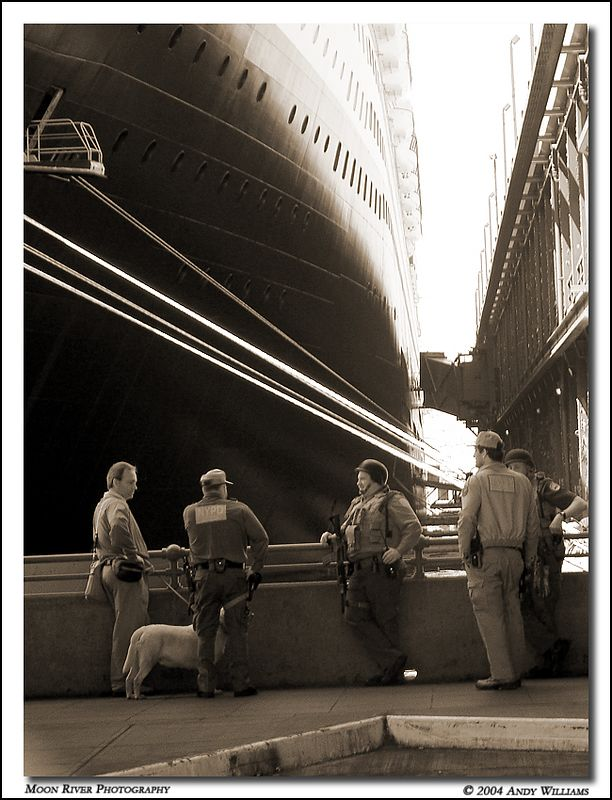 the queen mary 2 at her berth, pier 92