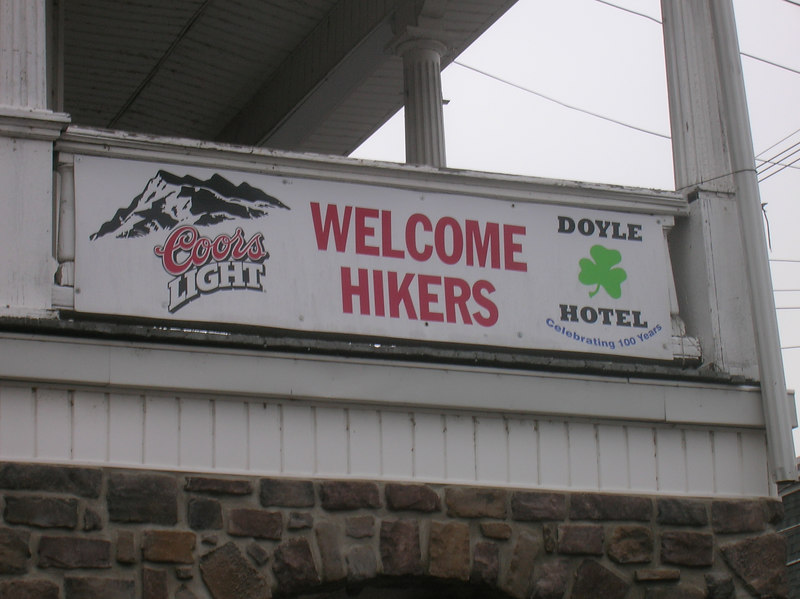The Doyle today... a haven for tired, wet and hungry hikers.