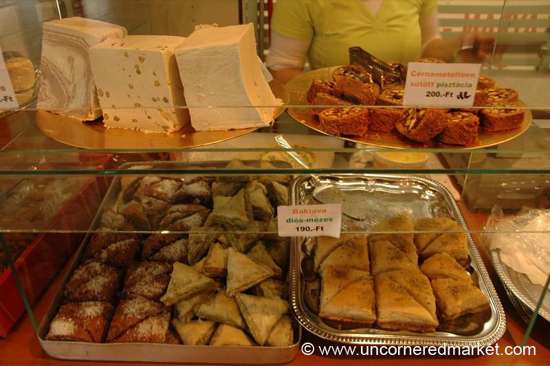 Baklava and Halva, Lehel Market - Budapest, Hungary