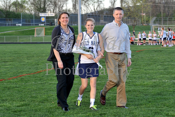 Holy Name Senior Night VS Conrad Weiser Girls Lacrosse 2010 - 2011