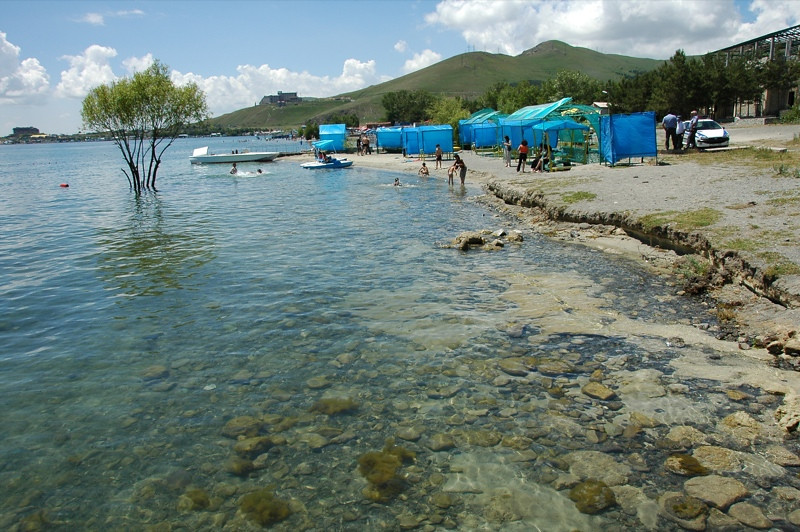 Clean and Clear Waters of Lake Sevan, Armenia