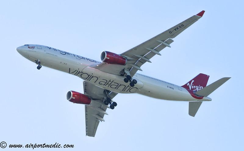 G-VKSS AirbusA330-343 Virgin Atlantic @ Glasgow Airport (EGPF)