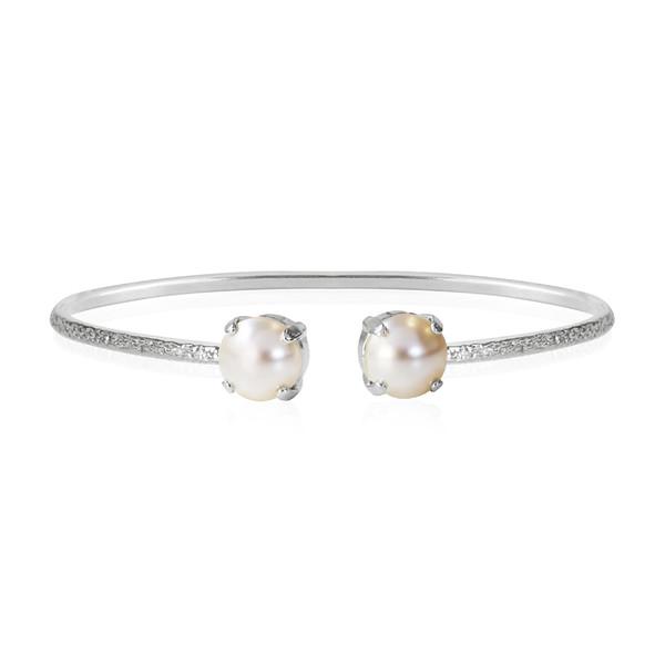 Classic Petite Bracelet / Pearl Rhodium