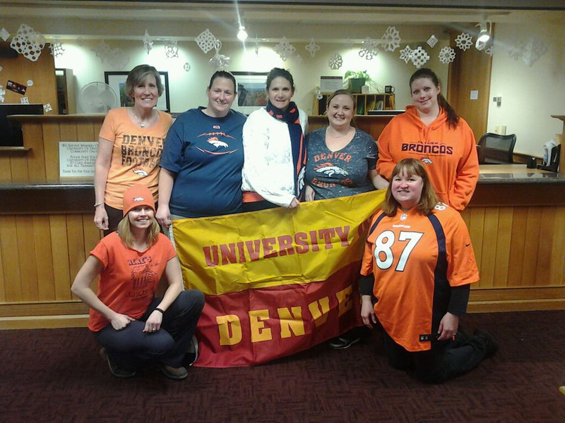 . Go Bronco\'s from the DU Bursar\'s Office!!! Becky
