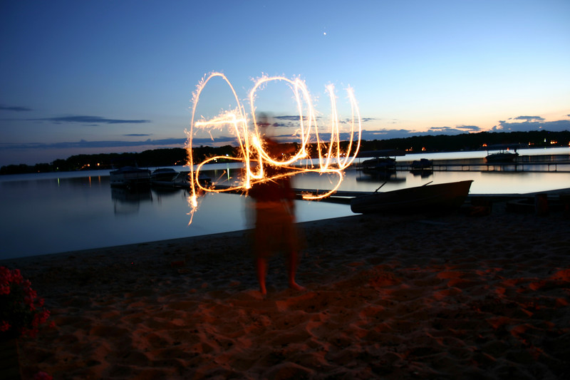 Sparkler and Camera Fun