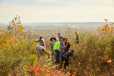 2017 UWL Fall Miller Bluff Invasive Species Removal Geography