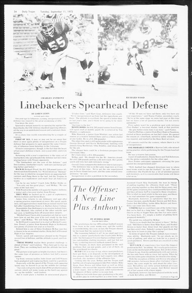 Daily Trojan, Vol. 66, No. 1, September 11, 1973