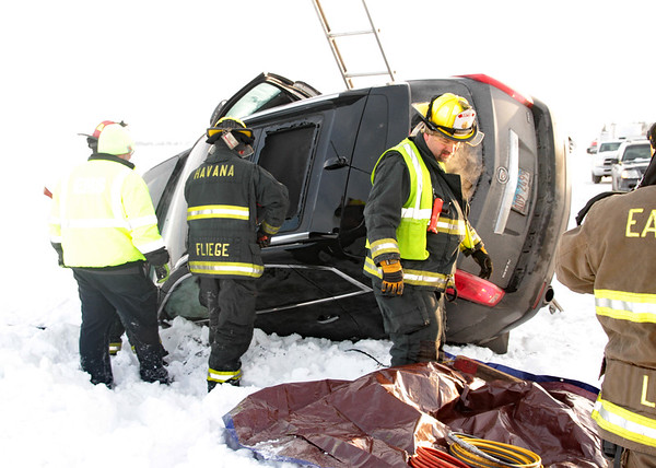 2019   ACCIDENT: RT 136 1 CAR ON ITS SIDE