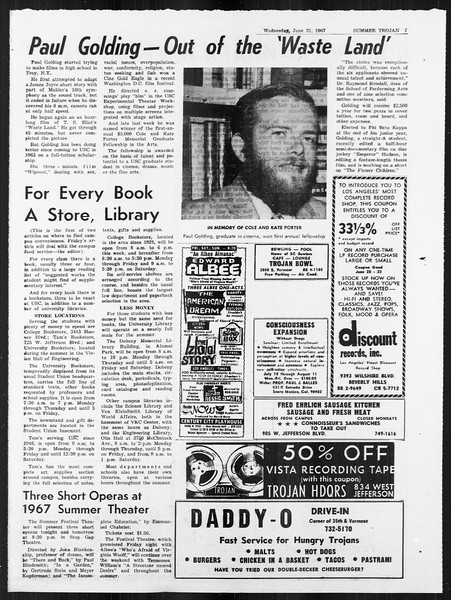Summer Trojan, Vol. 18, No. 1, June 21, 1967