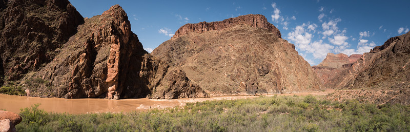 Lunch Break on the Grand Canyon looking at dikes