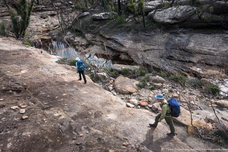 Rock slabs in Bundundah Creek
