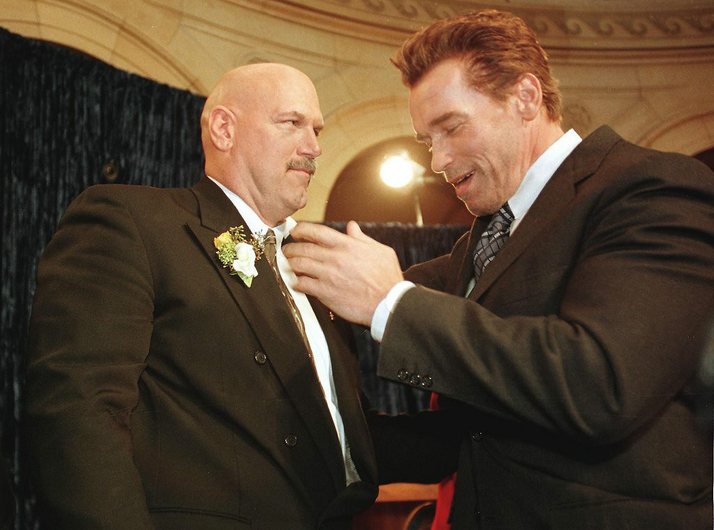 . <p>7:15 P.M.  </p><p>Calls old pal Arnold Schwarzenegger. Resumes his begging for a part in �Expendables 4.� </p><p>    (Craig Lassig/AFP/Getty Images)</p>