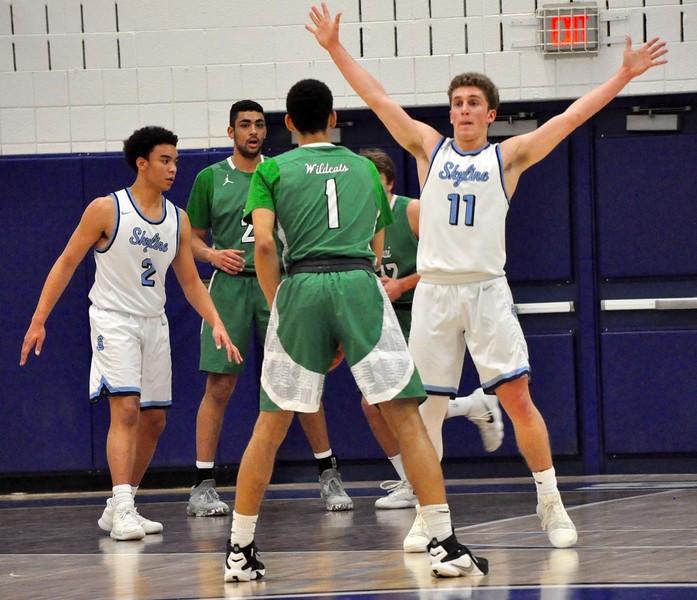 Novi defeated Ann Arbor Skyline, 61-59, in a Class A regional final at Salem High School on Wednesday, March 14, 2018. (Photo gallery by Dan Fenner/The Oakland Press)