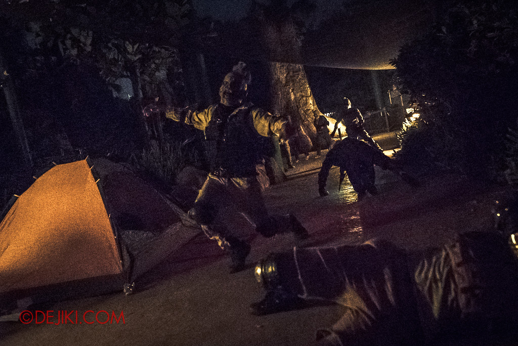 Halloween Horror Nights 7 MasterCard Priceless Experience - Camp ravaged by zombies