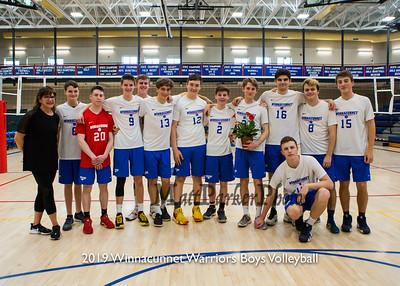 2019-5-20 WHS Boys Volleyball vs Coe-Brown on Senior Night