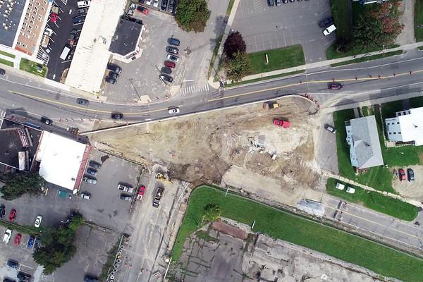 Tyler Street roundabout construction